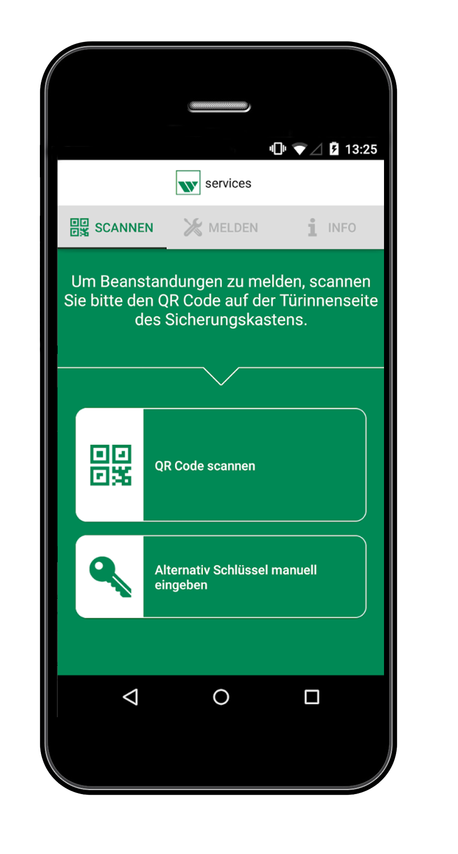 Screenshot weisenburger services App